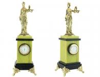 Настольные часы «Фемида» из бронзы