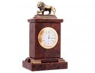 Заказать Настольные часы «Лев» (обсидиан) в подарок руководителю с доставкой