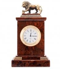 Настольные часы «Лев» (обсидиан)