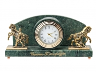 """Заказать Настольные часы """"Кони Клодта"""" (мрамор) в интернет магазине подарков с доставкой"""