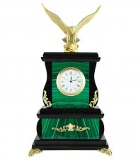 Часы настольные «Орел» (малахит)