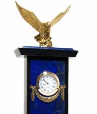 Часы настольные «Орел» (лазурит)