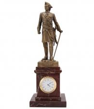 Настольные часы «Петр Великий» яшма