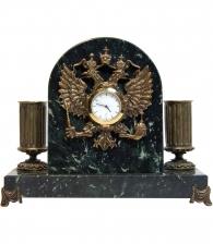 Настольный прибор с часами «Герб РФ»