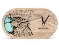 Настольные часы «Карта Санкт-Петербура»