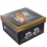 """Чайная пара """"Венецианские маски"""" вар.1 в подарочной коробке"""