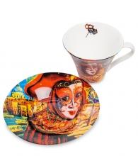 """Чайная пара """"Венецианские маски"""" вар.3"""