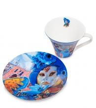 """Чайная пара """"Венецианские маски"""" вар.4"""