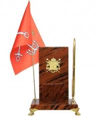 Настольная визитница с гербом Санкт-Петербурга