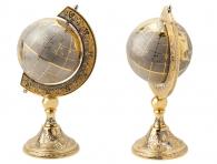 Золотой глобус украшенный фианитами как эксклюзивный подарок