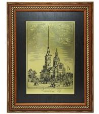 Гравюра на металле «Петропавловский собор»