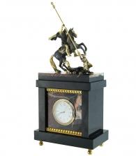 Кабинетные часы из яшмы «Георгий Победоносец»