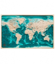 Многослойное панно «Карта мира»