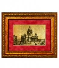 Картина на золоте «Исаакиевский собор» (большая)