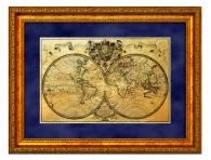 """Картина на золоте """"Карта путешествий"""" подарок для интерьера заказать с доставкой"""