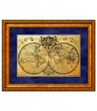 Картина на золоте «Карта путешествий»