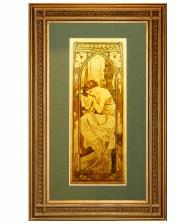 Картина на золоте «Ночь» А. Муха