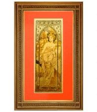 Картина на золоте «Утро» А. Муха