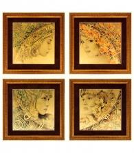 Картина на золоте «Четыре стихии» (комплект)
