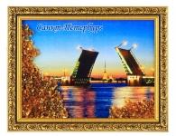 Картина с янтарем «Дворцовый мост»