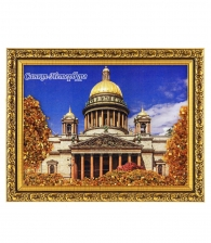 Картина с янтарем «Исаакиевский собор»