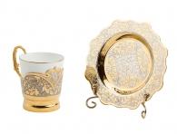 Заказать Кофейная пара «Цветы» (Златоуст) в подарок женщине