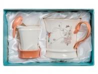 кружка с ситечком для чая в подарочной коробке