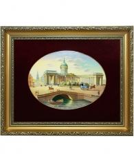 Лаковая миниатюра панно «Казанский собор»