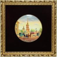 """Лаковая миниатюра """"Петропавловская крепость"""""""