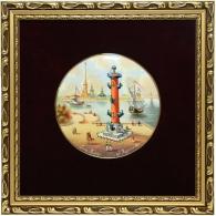 Лаковое панно «Ростральная колонна»