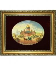 Лаковая миниатюра панно «Исаакиевский собор»