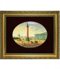 Лаковая миниатюра «Дворцовая площадь»