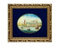 Купить Лаковая миниатюра «Здание Биржи» в Санкт-Петербурге