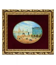 Лаковая миниатюра «Дворцовая набережная»