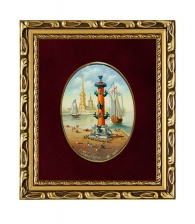 Лаковая миниатюра «Ростральная колонна»