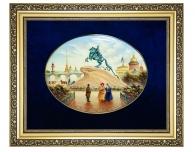 """Заказать Лаковая миниатюра """"Монумент Петру I"""" в подарок иностранцу"""