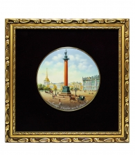 Лаковое панно «Александрийский столп» (среднее)