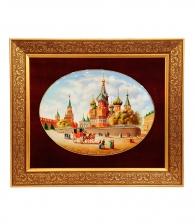 Лаковое панно «Собор Василия Блаженного» ПРЕМИУМ