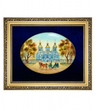 Лаковая миниатюра панно «Никольский собор»