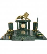 Письменный набор из мрамора «Лев»
