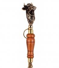 Ложка для обуви «Бык» с деревянной ручкой