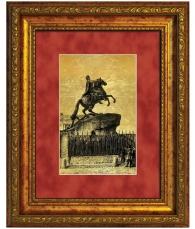 Картина на золоте «Медный всадник»