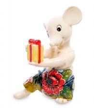 Фигурка «Мышка с подарком»