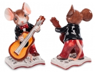 мышонок с гитарой статуэтка