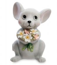 "Фигурка ""Мышка с букетом цветов"""