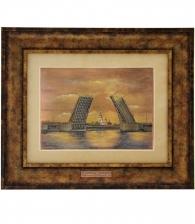 Гравюра на металле «Мосты Петербурга» (малая)