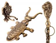 Комплект Денщик из 3-х предметов с большим жуком и ложкой Лев