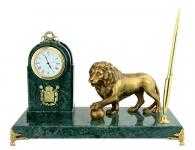 Эксклюзивный Настольный набор «Лев с шаром» недорогой подарок