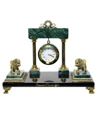 Настольные часы «Львы Петербурга»