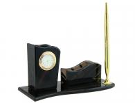 Выбрать Настольный набор «Н-8» (обсидиан) в магазине подарков Дарград